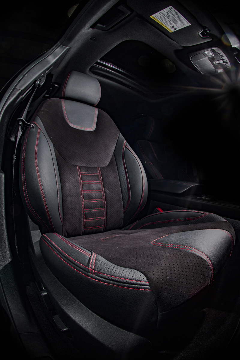 ford fusion  black leather alcantara dalas